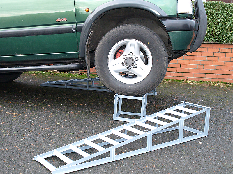Car Lifting Ramps low incline with detachable ramp section ...